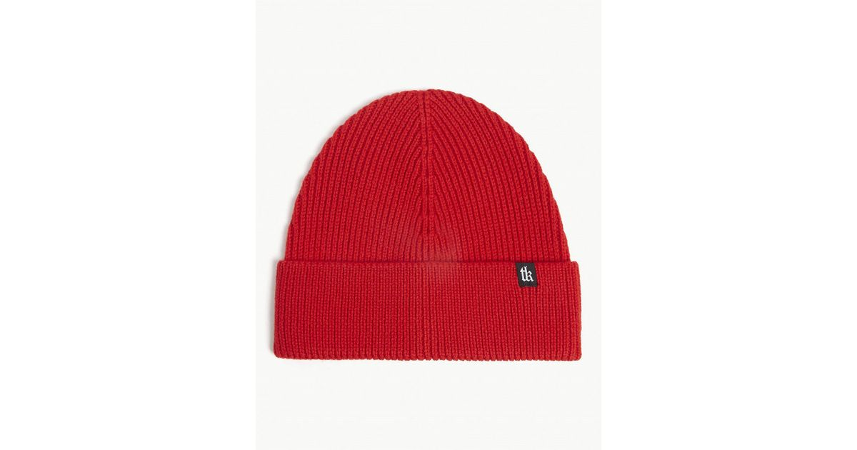 ec7fc83e30e5 The Kooples Wool Hat in Red for Men - Lyst