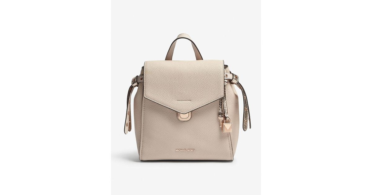 bf5b6065f4dc Lyst - MICHAEL Michael Kors Bristol Small Leather Backpack