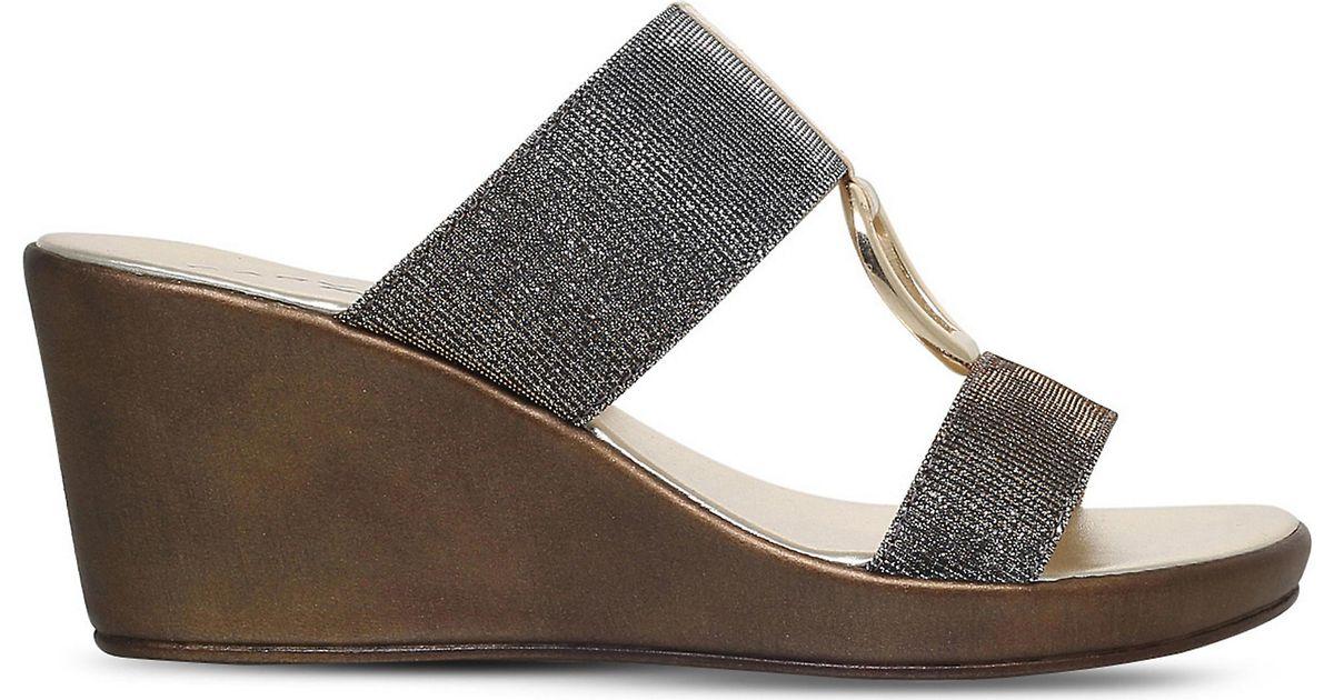 de3295b049747 Carvela Kurt Geiger Salt Metallic Metal Comb Silver Wedge Sandals in  Metallic - Lyst