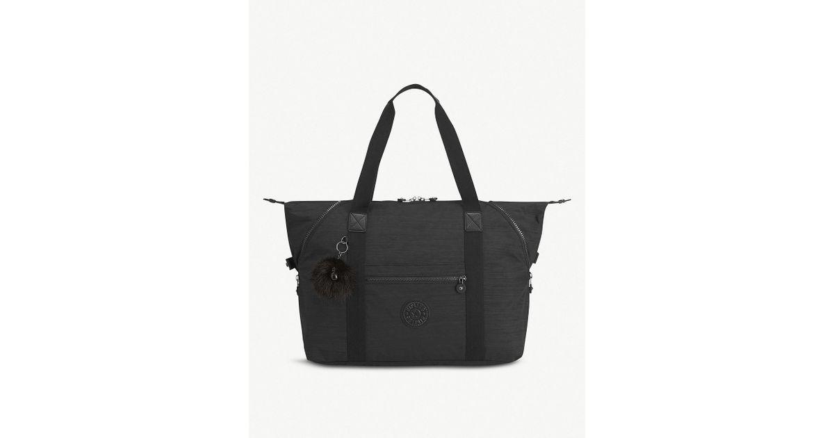 4b761effba5f Lyst - Kipling Art Medium Nylon Tote in Black