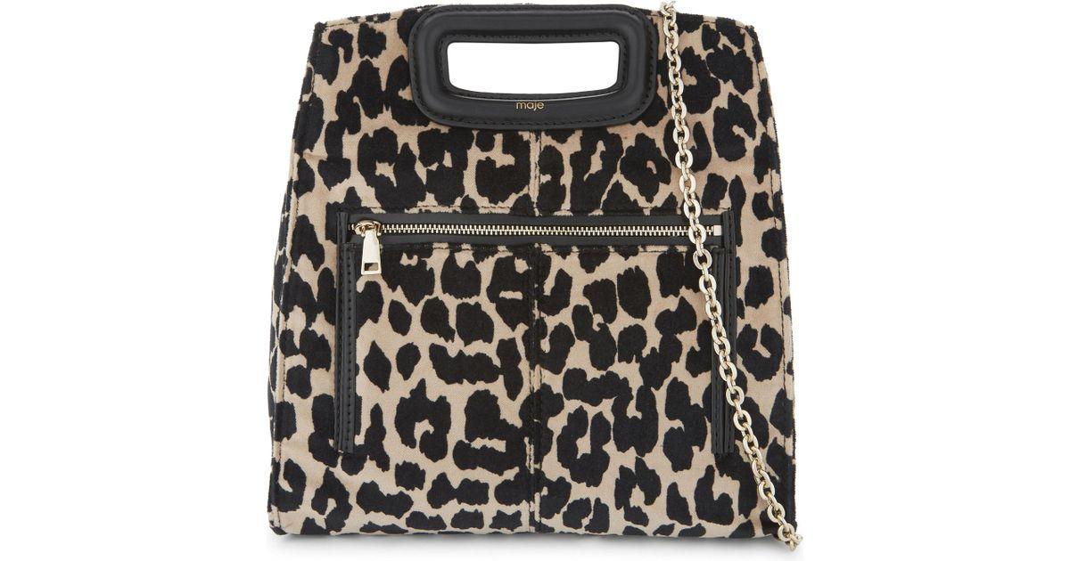 e50d8a862d07 Maje Leopard Print Shoulder Bag - Lyst