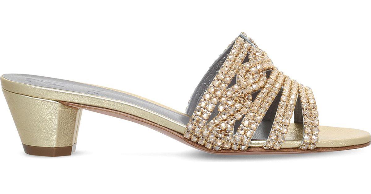 0667d57914d Gina Galaxy Metallic-leather Heeled Sandals