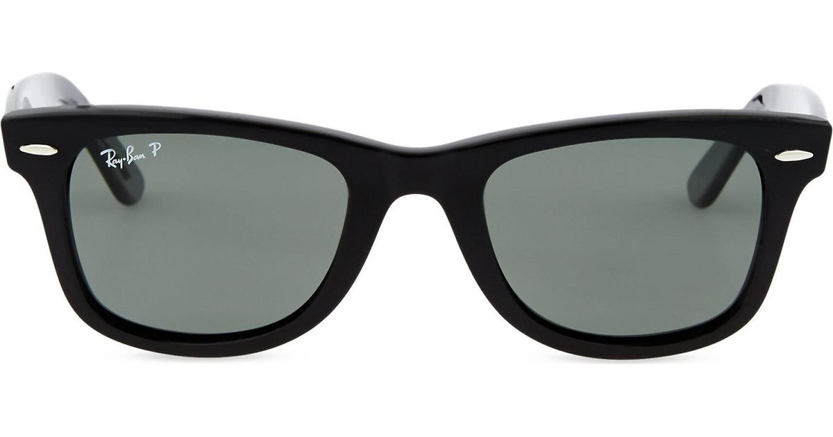 5035a7f083c77 Ray-Ban Black Thick Frame Wayfarer Sunglasses Rb2140 in Black - Lyst