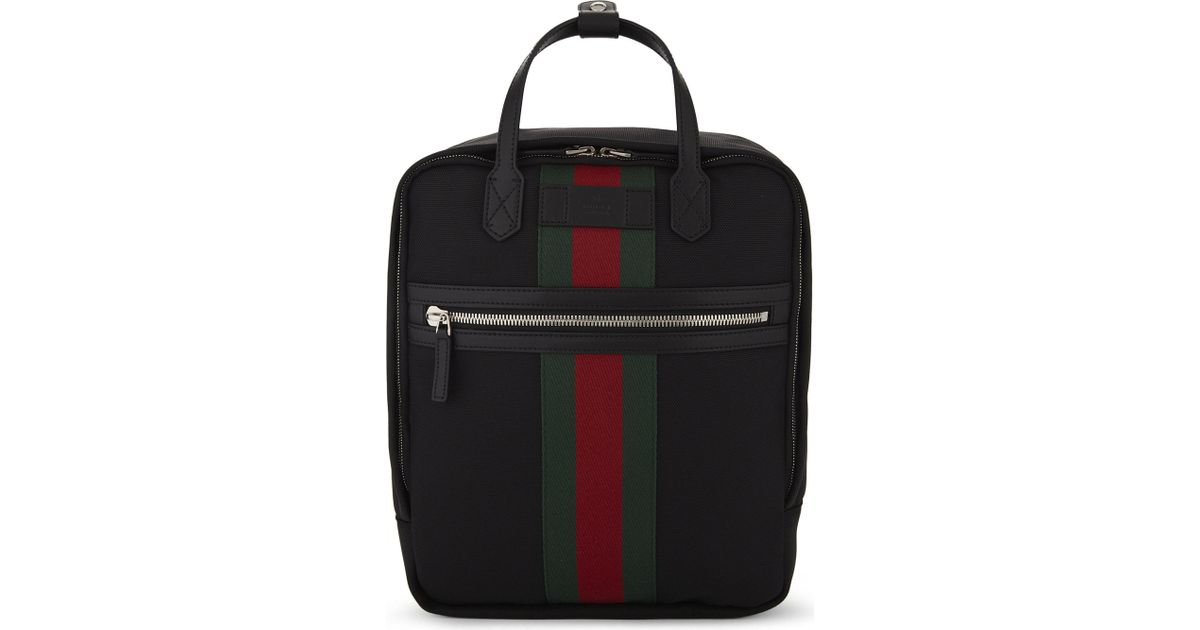 4ce5ba9303e Gucci  web  Backpack in Black for Men - Lyst