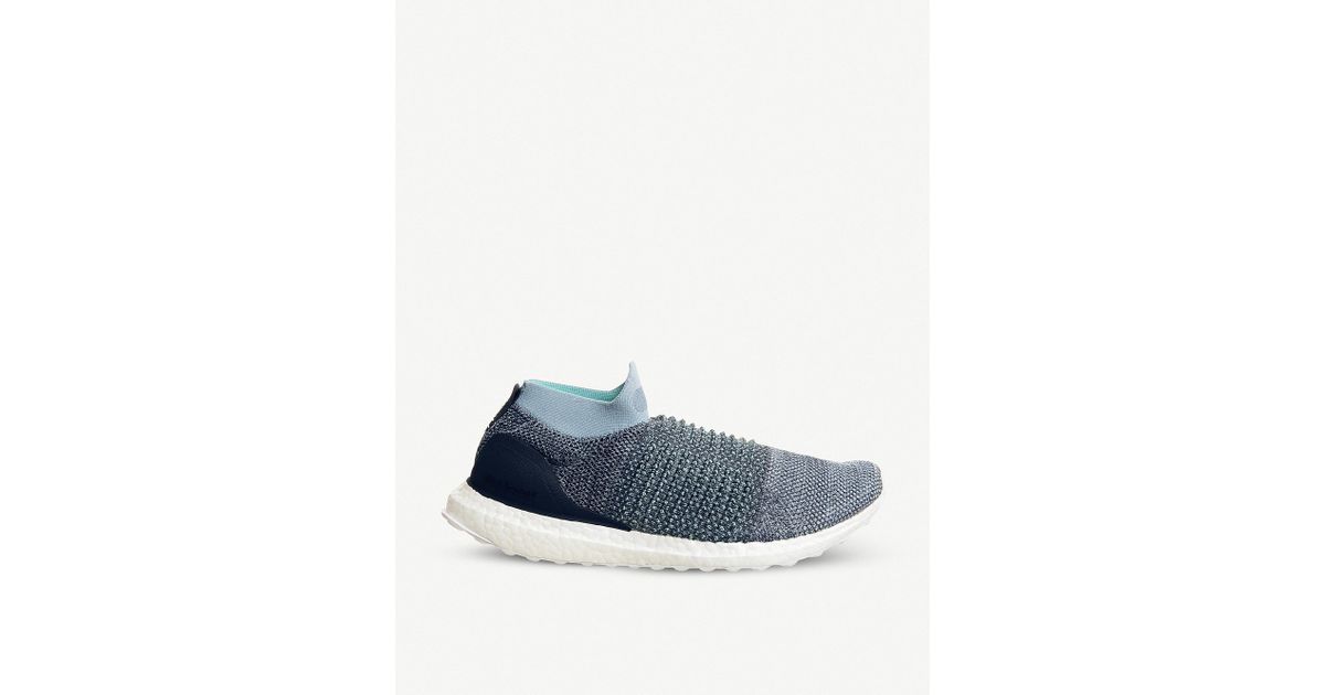 online retailer ea6dd 19707 Adidas - Gray Ultraboost Laceless Parley Shoes for Men - Lyst