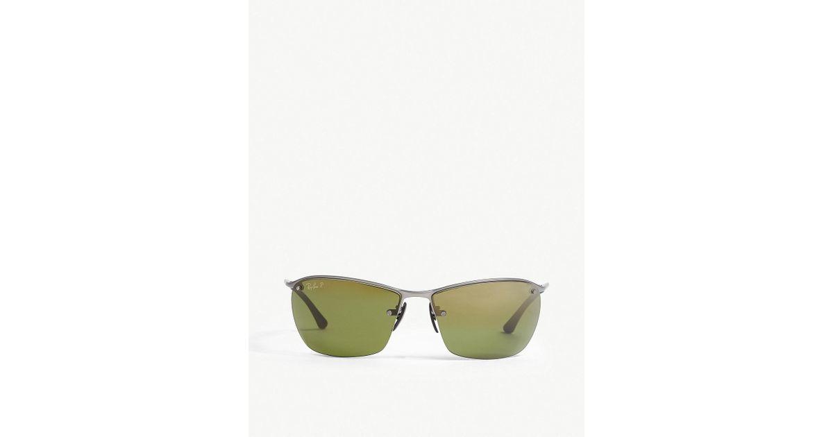 d2230b62dc Ray-Ban Rb3544 Chromance Rectangle-shape Sunglasses in Green for Men - Lyst