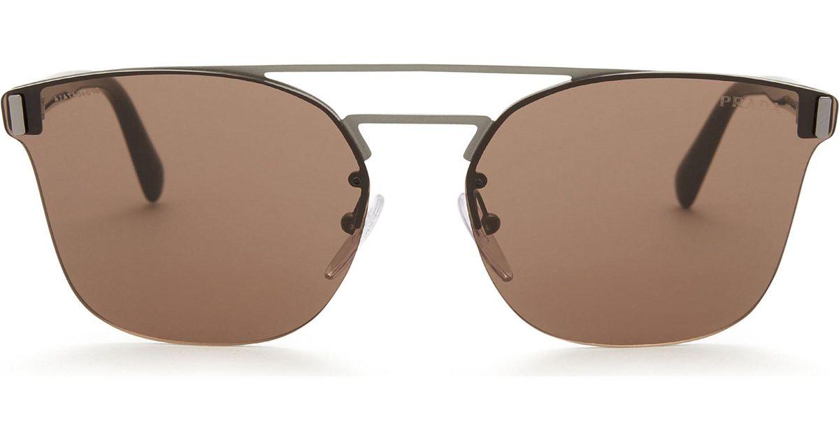 143896ca48 ... clearance lyst prada pr67ts phantos square frame sunglasses in white  f6810 0eed3