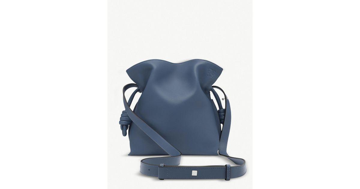 f51fcf1eba48 Lyst - Loewe Varsity Blue Flamenco Knot Small Leather Bag in Blue
