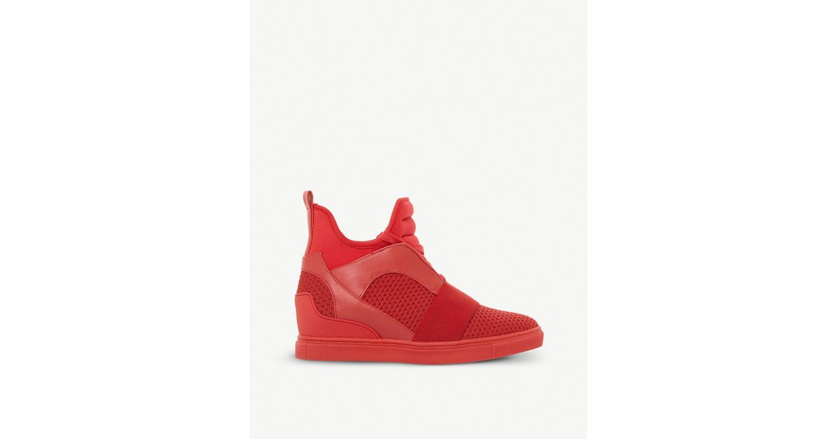 7e67c2394c4 Lyst - Steve Madden Red  lexi  Lace Up Trainers in Red
