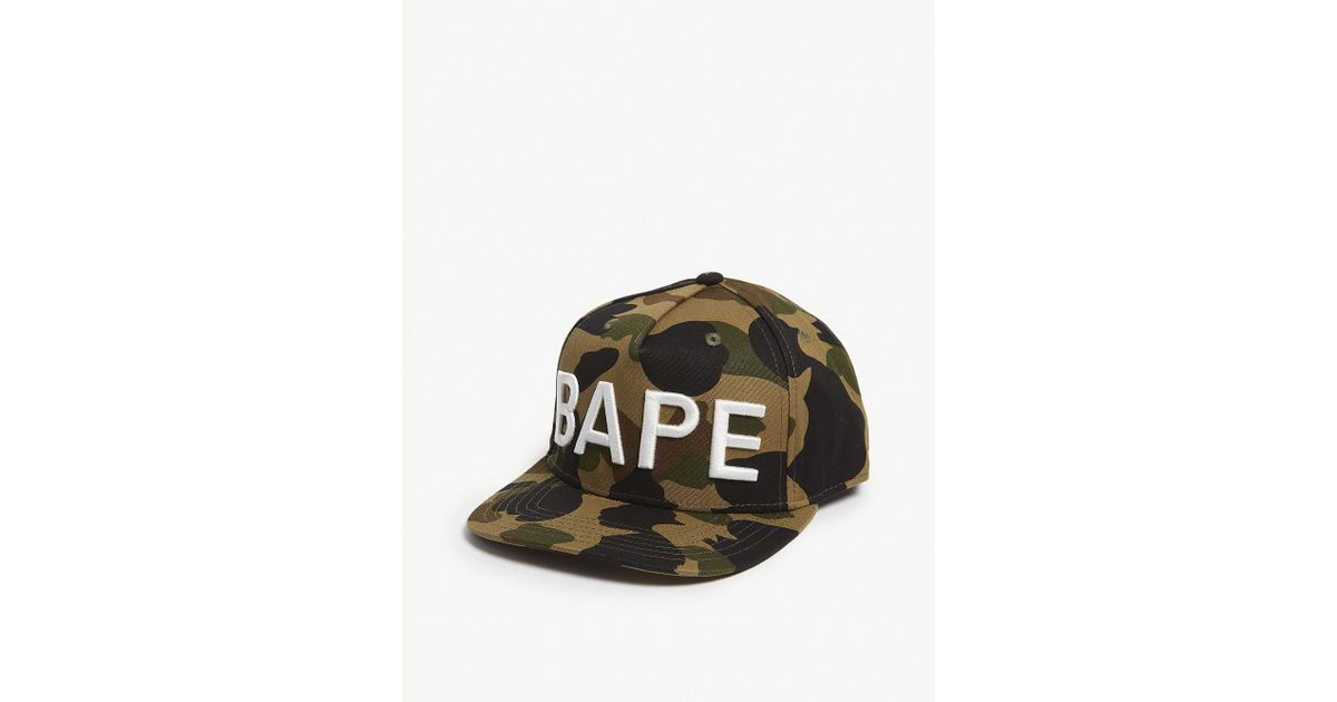 5868dff873e Lyst - A Bathing Ape 1st Camo Snap Back Cap Green in Green for Men - Save  49%