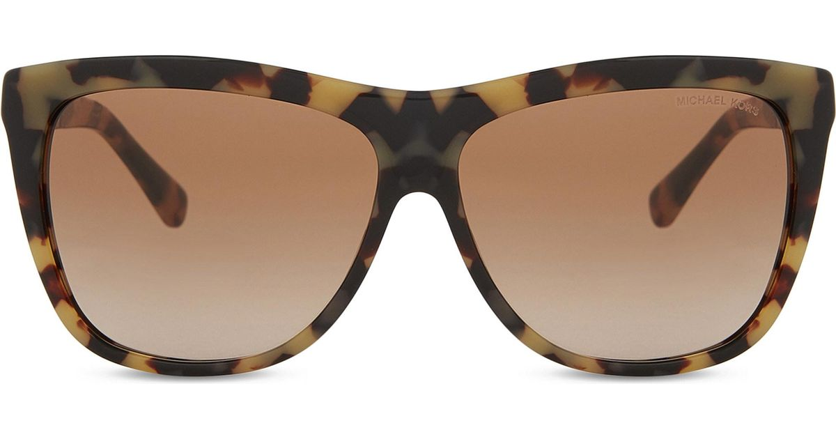bf1074415b Lyst - Michael Kors Mk6010 Benidorm 301313 Vintage Tortoiseshell  Square-frame Sunglasses
