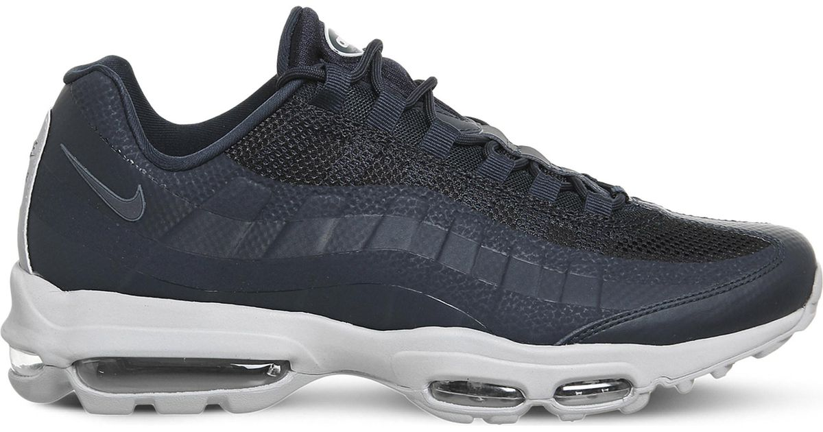 2abe9bad7b Nike Air Max 95 Ultra Mesh Trainers in Blue for Men - Lyst