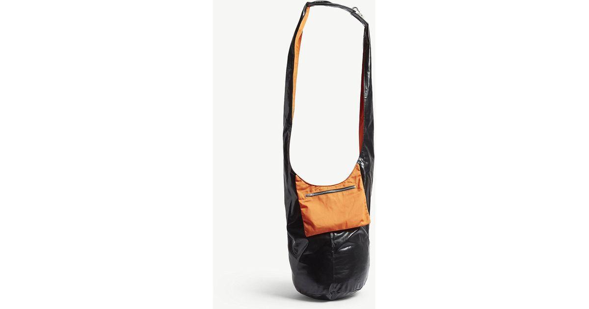 e7e8885fa7e6 Lyst - Raf Simons Ladies Orange Twisted Patent Shoulder Bag in Orange