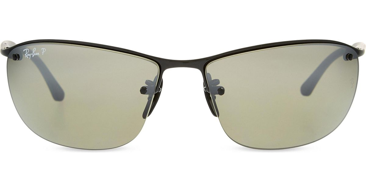 a476999264 Lyst - Ray-Ban Rb3544 Chromance Square-frame Sunglasses in Black