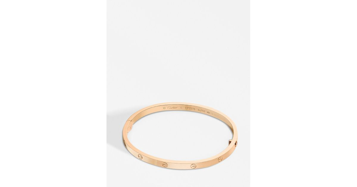 Cartier Love 18ct Pink Gold Bracelet Small Lyst