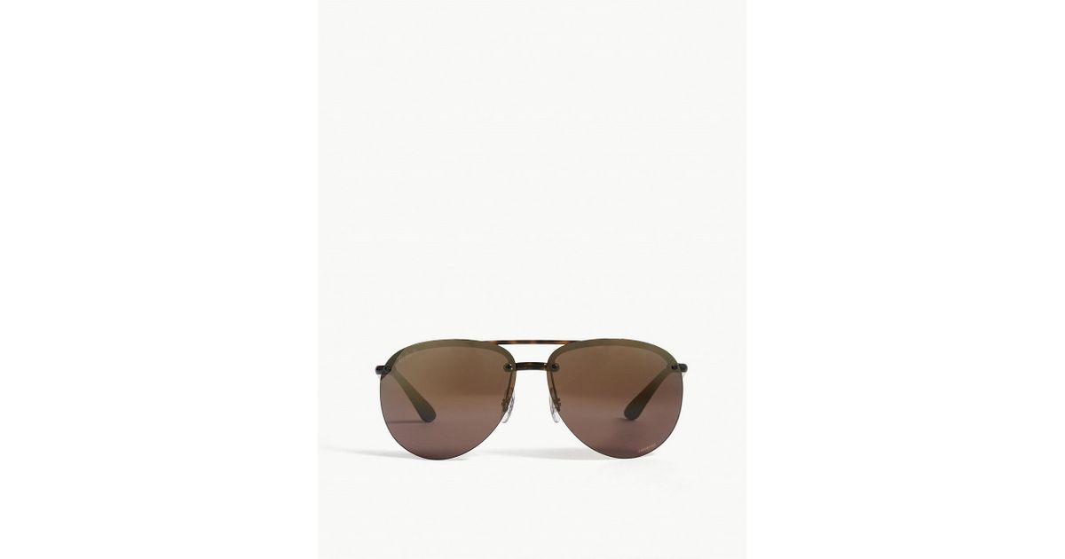 7d4772f4a1 Lyst - Ray-Ban Rb4293 Chromance Aviator-frame Sunglasses in Brown