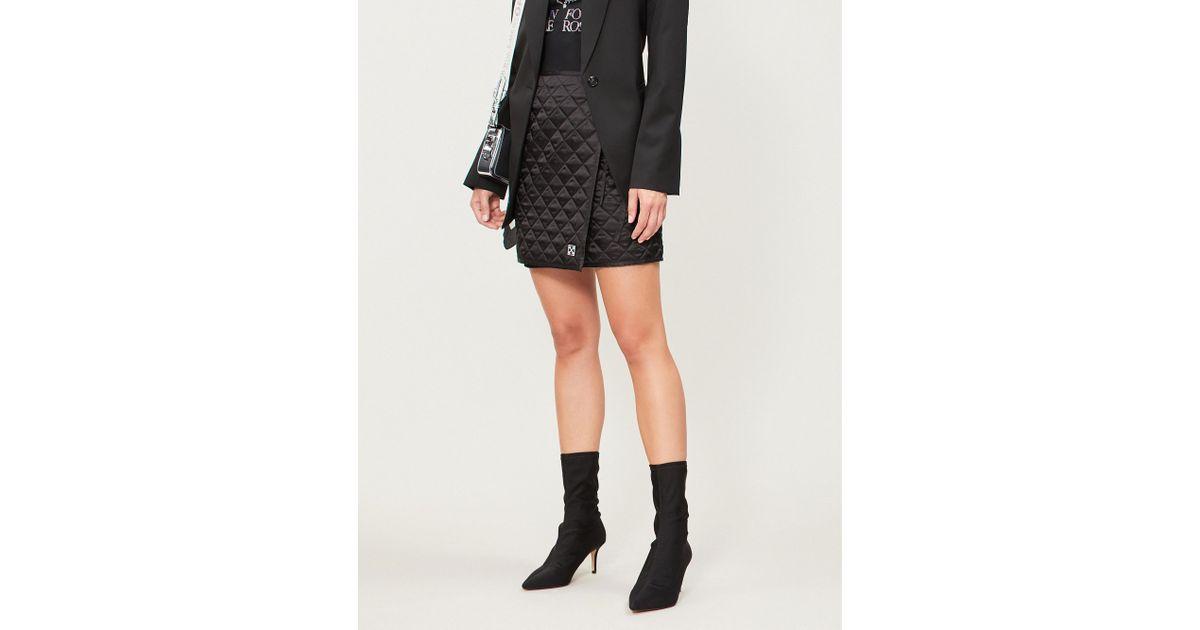 0c42d39531 Off-White c/o Virgil Abloh Quilted Shell Mini Skirt in Black - Lyst