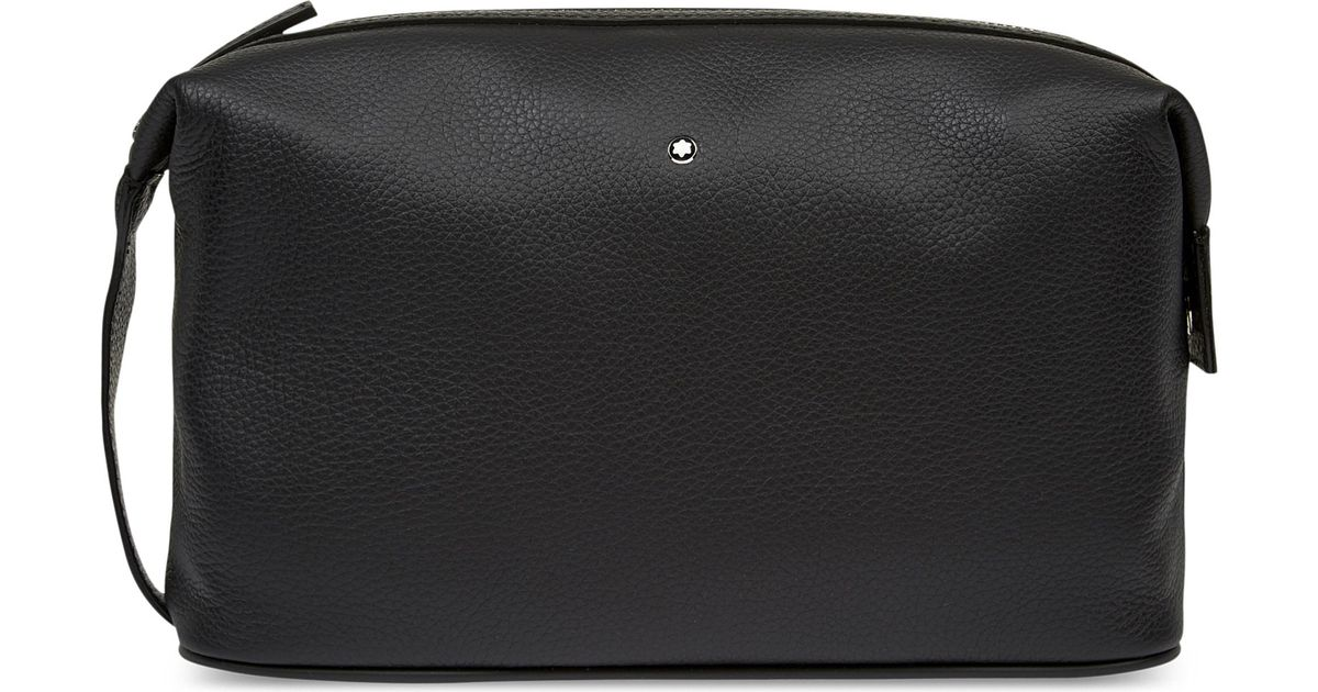 Lyst - Montblanc Meisterstück Soft Grain Leather Wash Bag in Black for Men 78e1158e7c