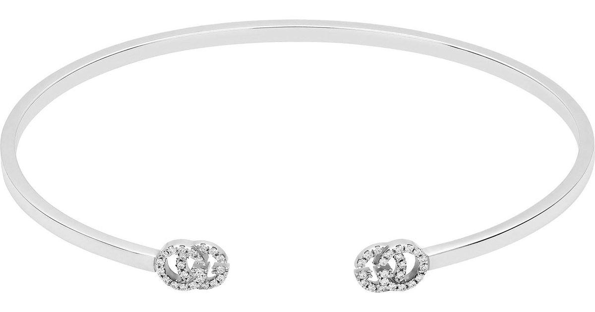 Gucci GG Running cuff with diamonds 5qC1Z928