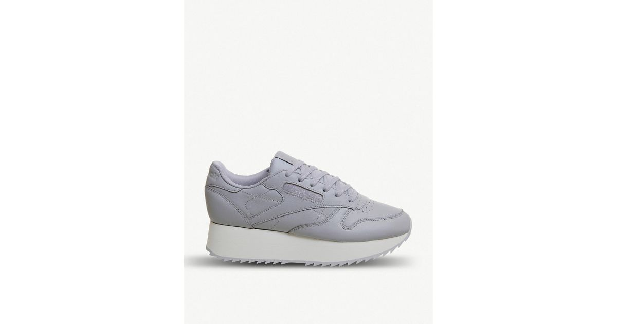 new style 122a8 75434 Reebok Classic Bold Leather Platform Trainers in Gray - Lyst