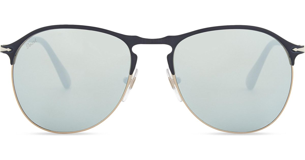 Lyst - Persol Po7649s Pilot-frame Sunglasses in Blue