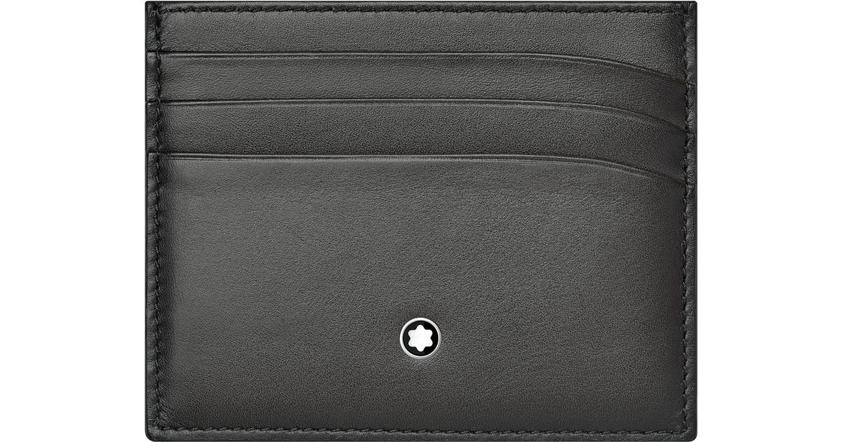 b54203ae5cd Lyst - Montblanc Meisterstück Leather Six Credit Card Pocket Holder for Men
