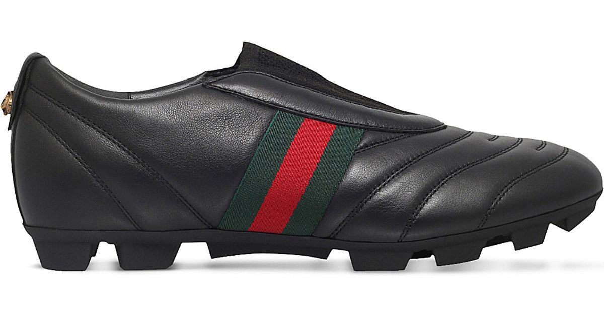 Gucci Titan Leather Football Boots in Black for Men
