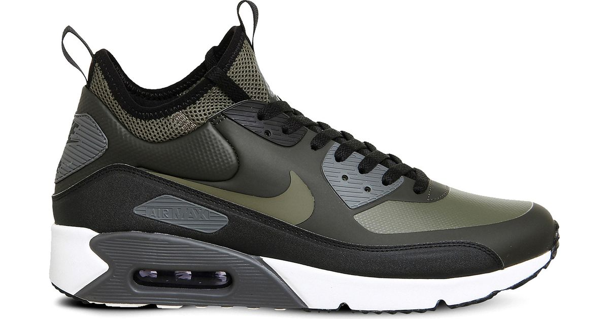 Affordable Nike Air Max 90 Mid Winter Trainer Dark Loden
