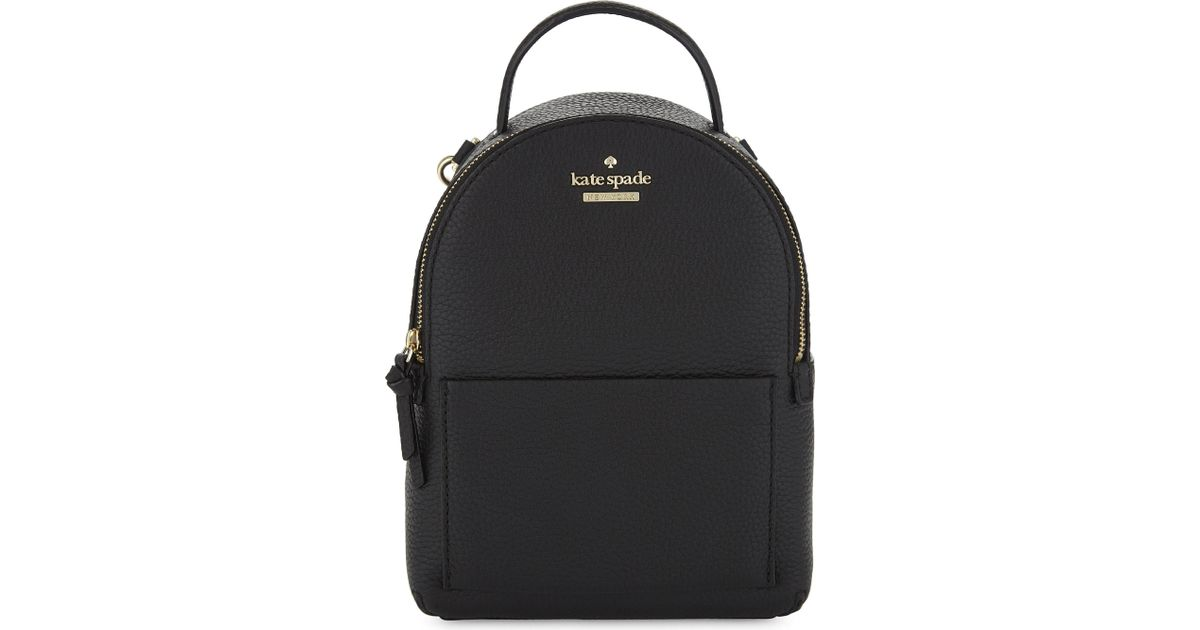 90bd9f6ce487f Lyst - Kate Spade Jackson Street Merry Mini Leather Backpack in Black