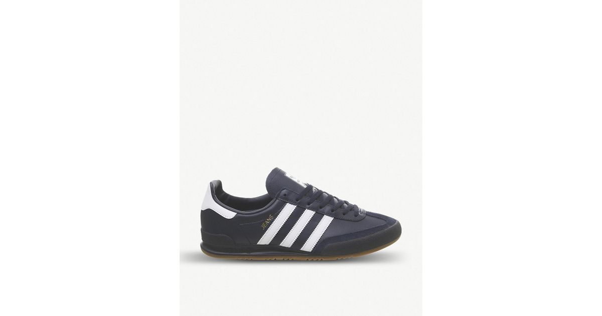 93ce919d52f81 Lyst - adidas Jeans Leather Trainers in Blue for Men