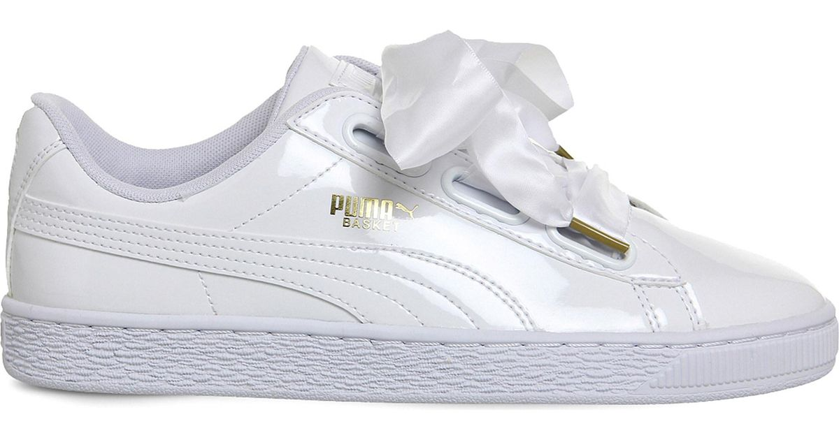 Lyst - PUMA Basket Heart Patent Wn s Fashion Sneaker in White - Save 61% 0b22b73ac