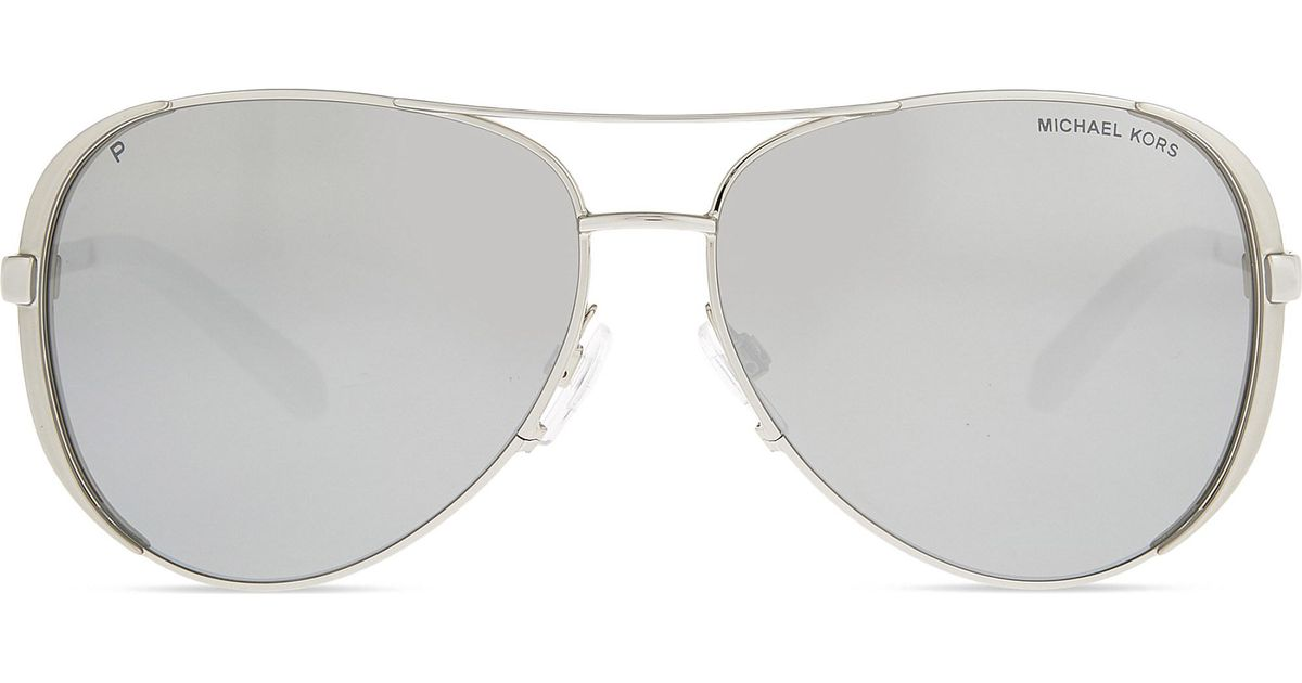 a9a74773b9a Lyst - Michael Kors Mk5004 Chelsea Aviator Sunglasses in Metallic