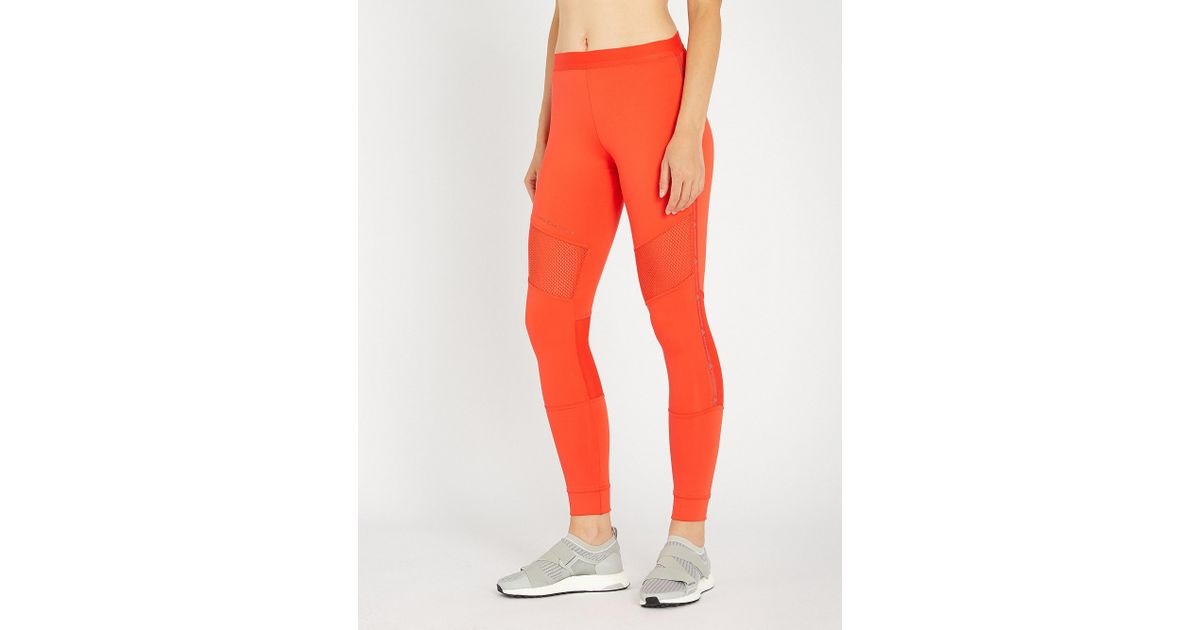 9d62233550de8 Adidas By Stella Mccartney Performance Essentials Stretch-jersey leggings  in Red - Lyst