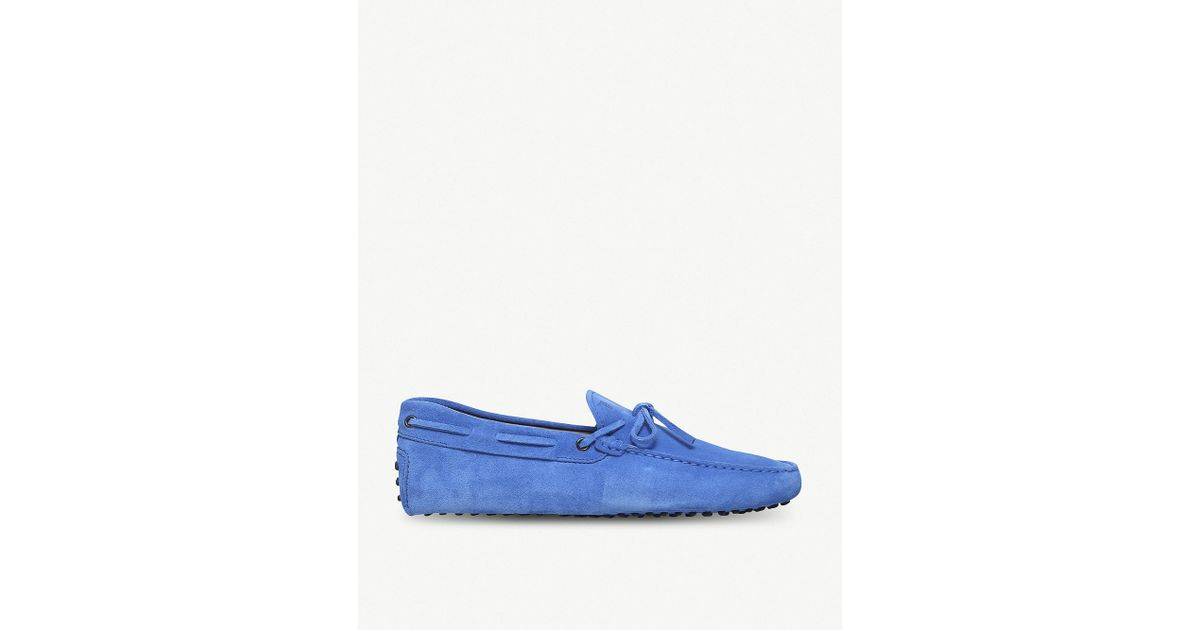 227ddb6cd50 Lyst - Tod s 122 Suede Driving Shoes in Blue