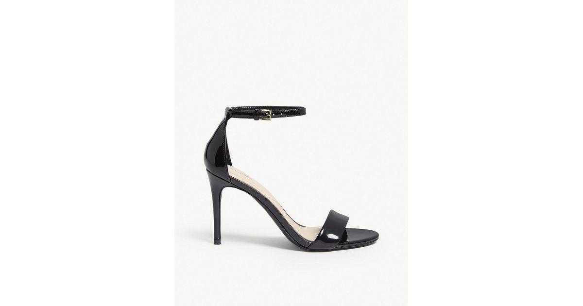 afe067e48ff ALDO Cally Patent Sandals in Black - Lyst