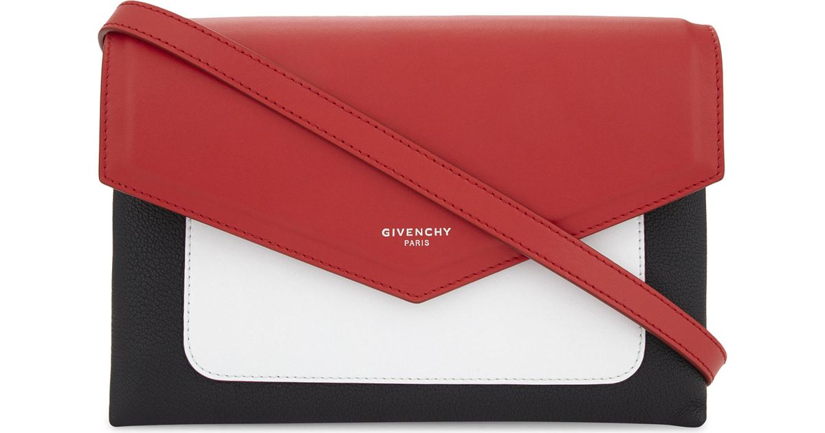 b75bc4df2c3 ... Lyst - Givenchy Duetto Leather Cross-body Bag in Red innovative design  8dfc9 40a5b ...