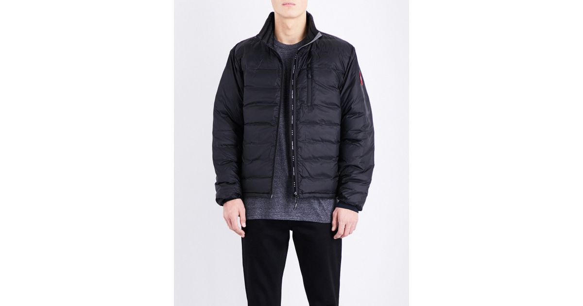 6f8344c84 Lyst - Canada Goose Lodge Quilted Shell Jacket in Black for Men
