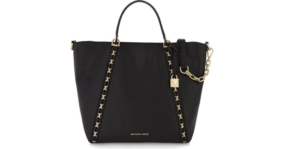 0b5b4a11a92d8f MICHAEL Michael Kors Sadie Leather Grab Bag in Black - Lyst