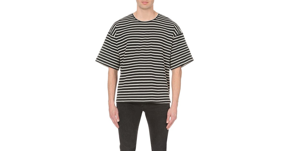 9ededb892dfdd0 Lyst - Fear Of God Fourth Collection Striped Cotton T-shirt in White for Men