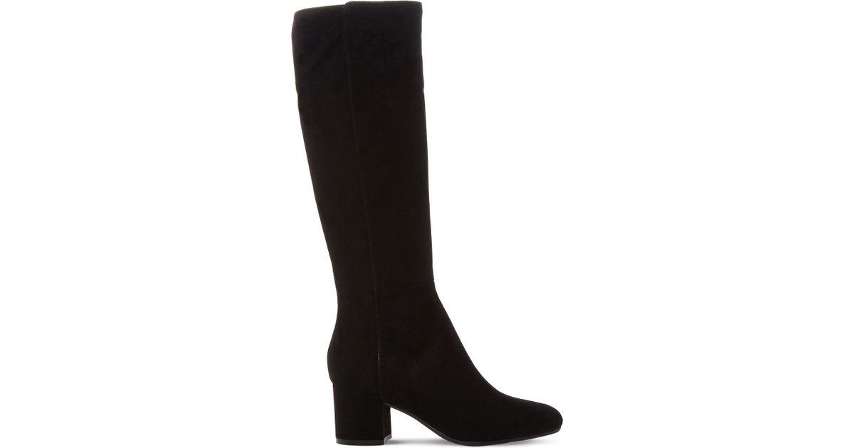 1d8f5fa62ea Lyst - Dune Black Salisbury Suede Knee-high Boots in Black