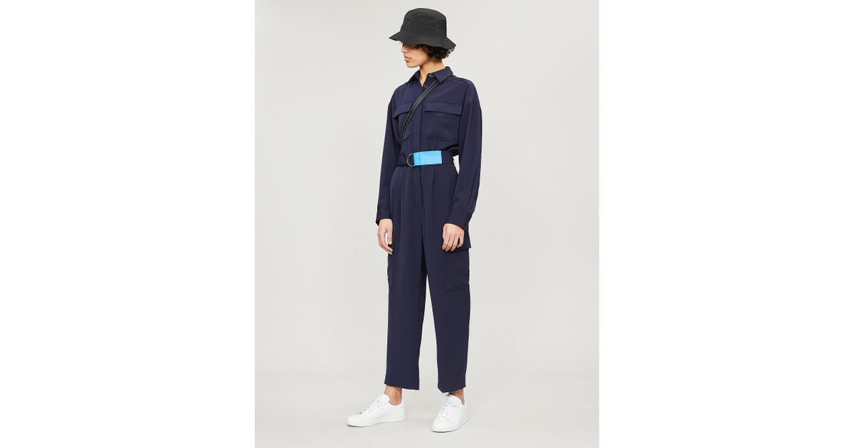 173a6eb0a04 Kitri Jule Crepe Jumpsuit in Blue - Lyst