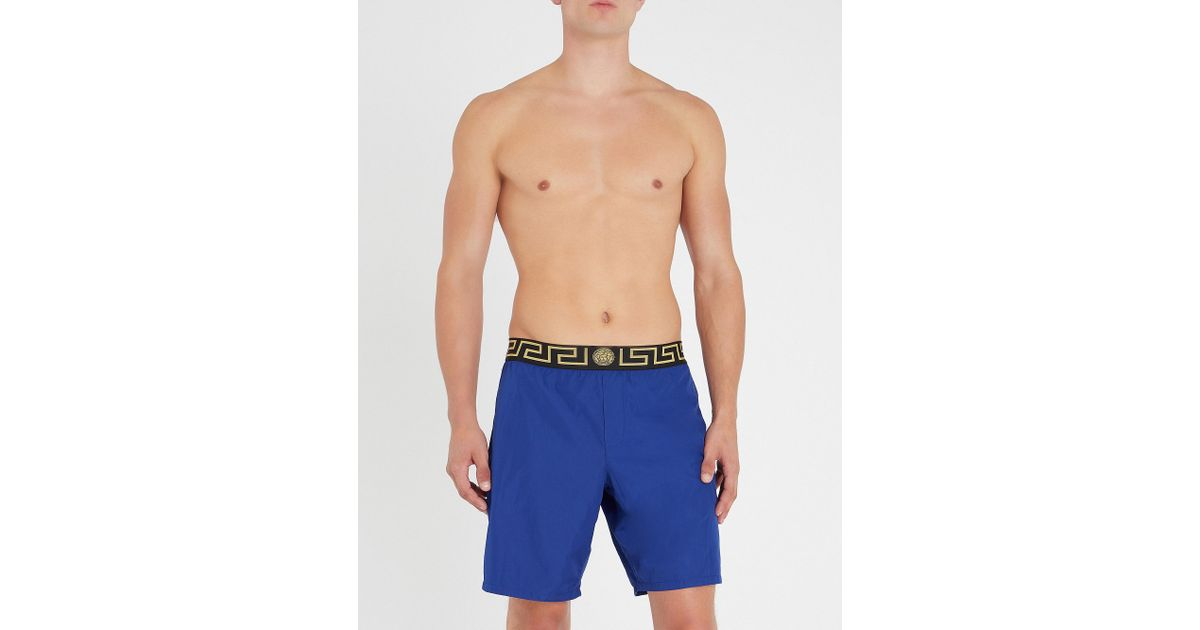 72f6f93be264 Lyst - Versace Iconic Swim Shorts in Blue for Men