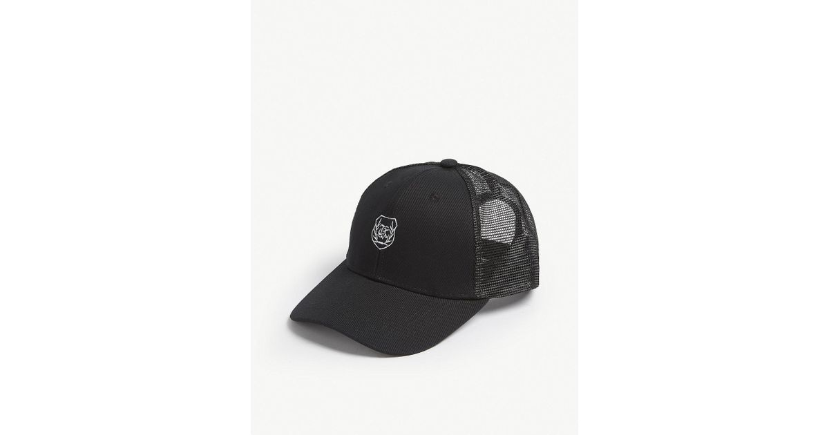 373f1a51615 Lyst - The Kooples Logo Cotton Cap in Black for Men