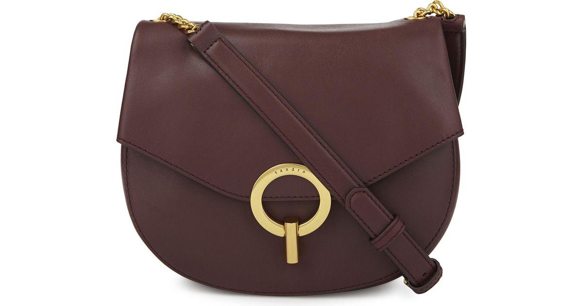 b680f246fd82 Lyst - Sandro Pepita Leather Cross-body Bag