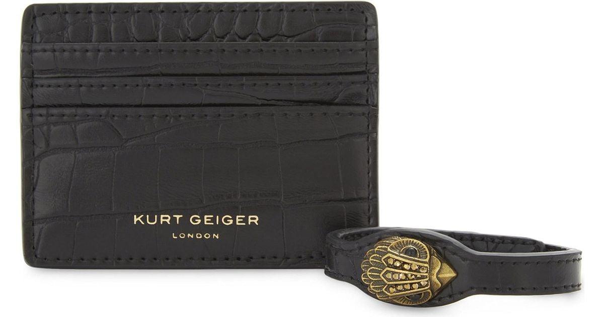 08da1901bf37 Lyst Kurt Geiger Crocodile Embossed Faux Leather Card Holder And. Asos  Leather Card Holder And Bracelet Gift Set