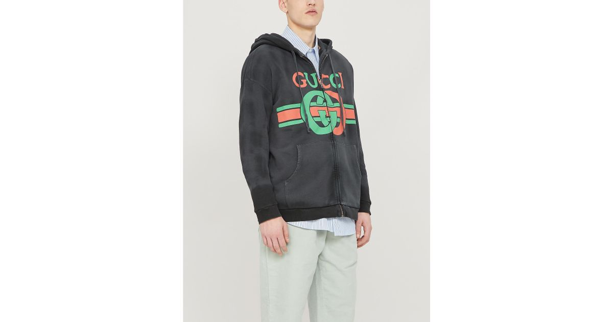 41ad23975 Gucci Reversible Sweatshirt With Interlocking G in Black for Men - Save 1%  - Lyst
