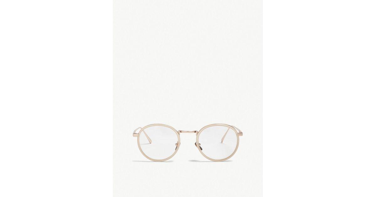 1b029c59761 Lyst - Linda Farrow Lfl182 Oval-frame Sunglasses