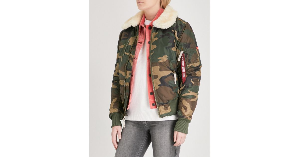 3905805d2 Alpha Industries - Multicolor Injector Iii Padded Shell Bomber Jacket - Lyst