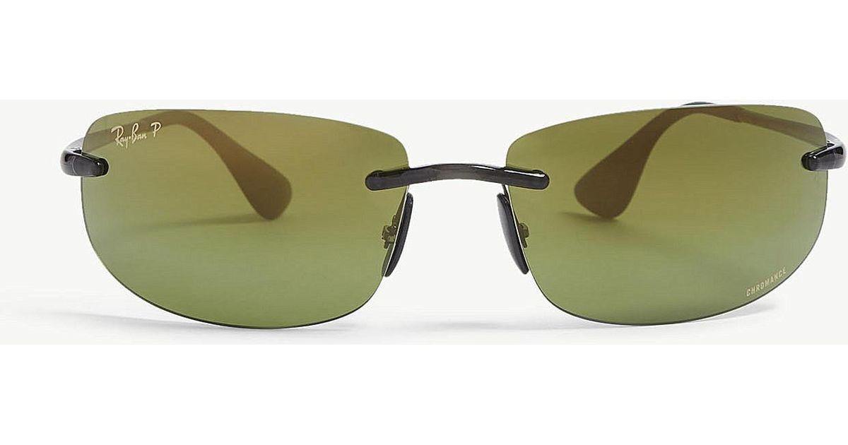 cc36bf3e45 Ray-Ban - Gray Rb4254 Chromance® Rectangular Sunglasses for Men - Lyst