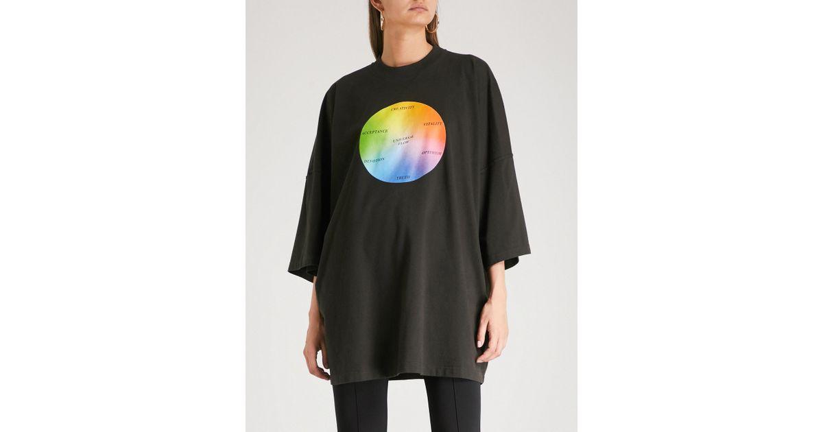 c680df3b4 Balenciaga Universal Flow Oversized Cotton-jersey T-shirt in Black - Lyst